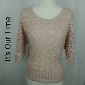 It's Our Time   Open Knit Sweater